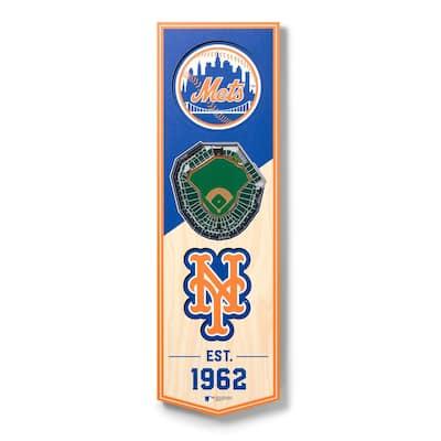 MLB New York Mets6 in. x 19 in. 3D Stadium Banner-Citi Field