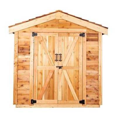 7 ft. x 7 ft. Cedar Gable Shed