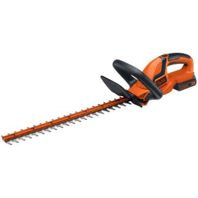 22 in. 20V MAX Lithium-Ion Cordless Hedge Trimmer with (1) 1.5Ah Battery and Charger Included