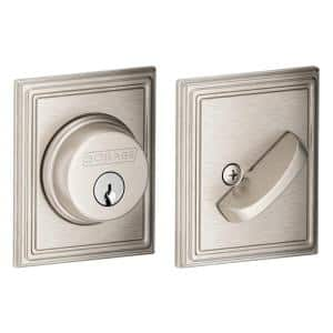 Addison Satin Nickel Single Cylinder Deadbolt