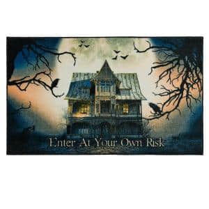Spooky Enter Gray 2 ft. 6 in. x 4 ft. 2 in. Holiday Area Rug
