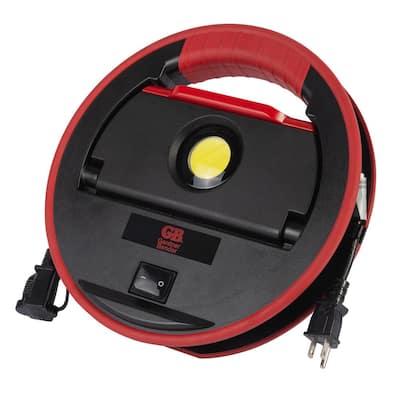 40-Watt Heavy-Duty LED Multi-Task Directional Work Light with Cord Caddy