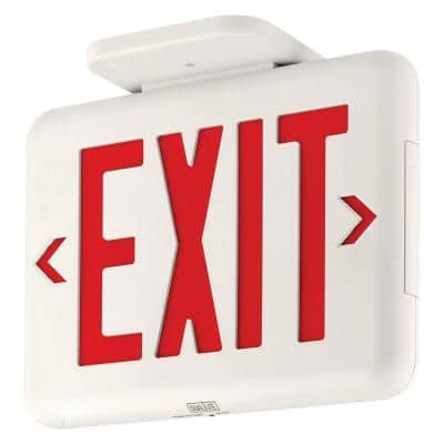 EVE Series 2-Watt White/Red Integrated LED Exit Sign with Battery and Self-Diagnostics