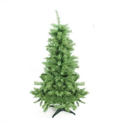 4.5 ft. x 28 in. Unlit Slim Mixed Pine Artificial Christmas Tree