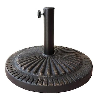 31 lbs. Poly Resin Patio Umbrella Base in Bronze