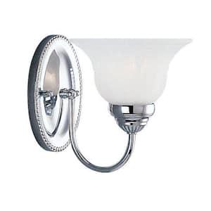 Edgemont 1 Light Polished Chrome Bath Vanity Light