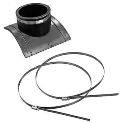 4 in. Plastic - 12 in. Clay Saddle x 4 in. Flexible PVC Saddle Tee Fitting SCH 40 Cast Iron or SDR35 Inlet