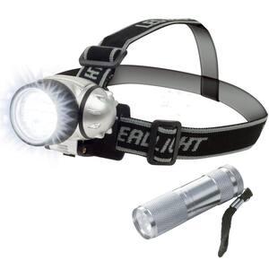12 LED Head Lamp Plus 6 LED Flashlight Super Set