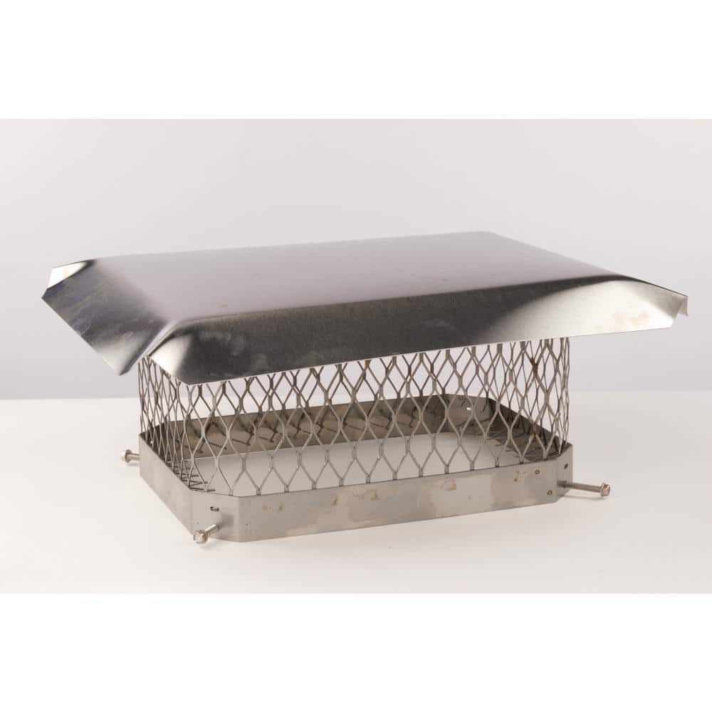 Master Flow 9 In X 13 In Stainless Steel Fixed Chimney Cap Cc913ss The Home Depot