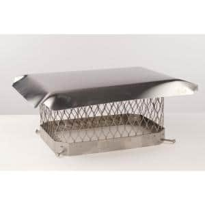 The Forever Cap CCSS817LP 8 x 17-Inch Stainless Steel Single Flue Low Profile Chimney Cap