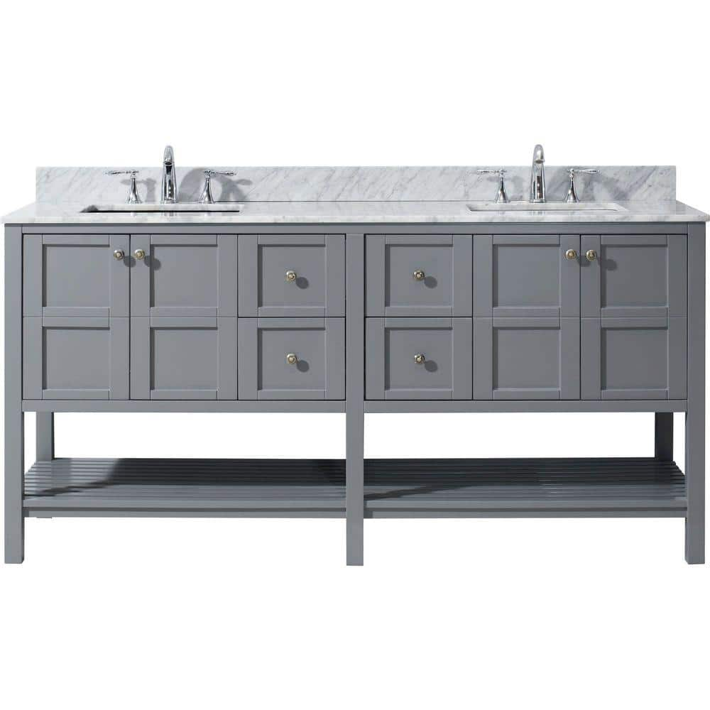 virtu usa winterfell 72 in w bath vanity in gray with marble vanity top in white with square basin ed 30072 wmsq gr nm the home depot