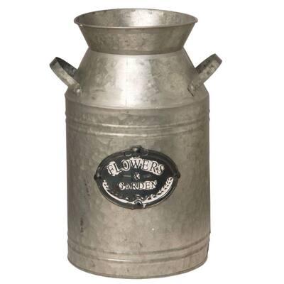 15 in. Garden Accents Antique Milk Can