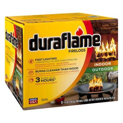 4.5 lb. Indoor/Outdoor Firelogs (9-Pack), 3 Hour Burn