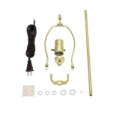 Brass Make-A-Lamp Push Through Socket Kit (1-Pack)