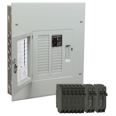 PowerMark Gold 125 Amp 12-Space 22-Circuit Indoor Main Breaker Value Kit Includes Select Circuit Breaker
