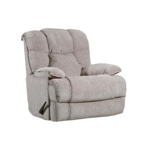 Bruno 40 in. Width Big and Tall Stone Chenille Rocking Zero Gravity Recliner