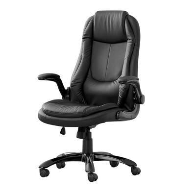 Jasmine Black Foot Rollersmedia Chair