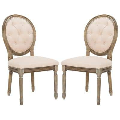 Holloway Beige Tufted Oval Side Chair (Set of 2)