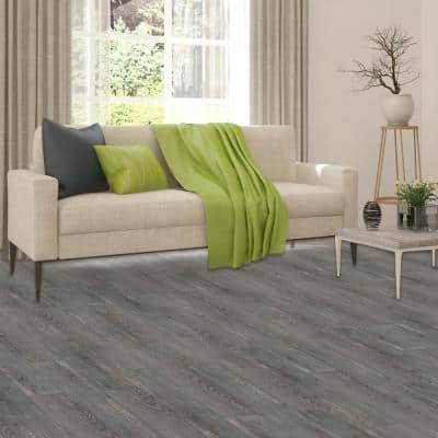 Sterling 2.0 Silver Spruce 6 in. x 36 in. Peel and Stick Vinyl Plank Flooring (15 sq. ft. / case)