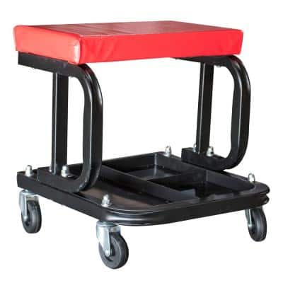 Rolling Creeper Work Seat with Divided Organizer and Tool Tray