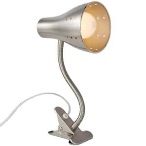 13-7/8 in. Satin Chrome Clip Lamp