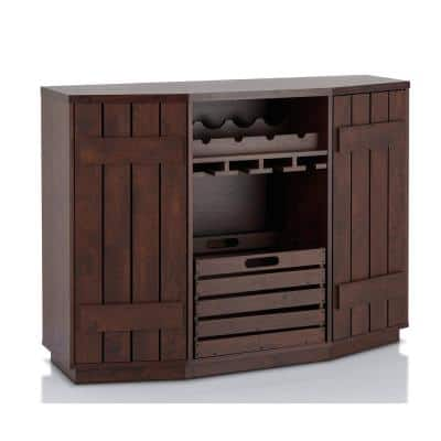 Neomir Vintage Walnut Buffet with Removable Crate