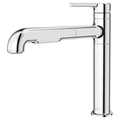 Studio S Single-Handle Pull-Out Sprayer Kitchen Faucet with Dual Spray in Polished Chrome