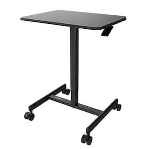 25.8 in. H Rectangular Laptop Desks with Adjustable Height-Black
