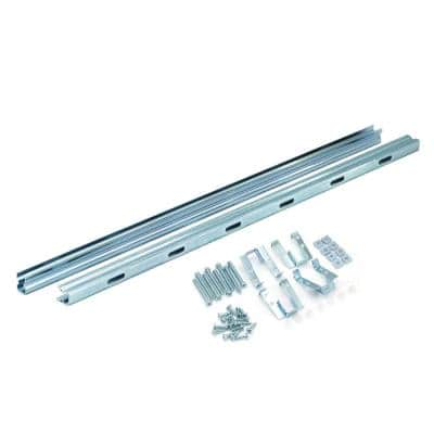 23 in. Steel Undermounter Universal Undermount Sink Installation Kit (Rail System in Cabinet)