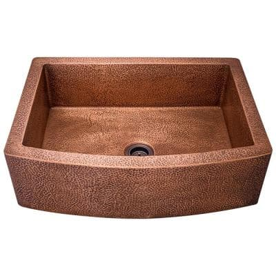 Farmhouse Apron Front Copper 33 in. Single Bowl Kitchen Sink