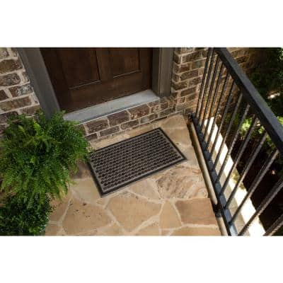 Colorful Dots Gray 18 in. x 30 in. Ornamental Entry Mat