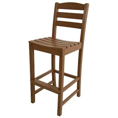La Casa Cafe Teak Plastic Outdoor Patio Bar Side Chair