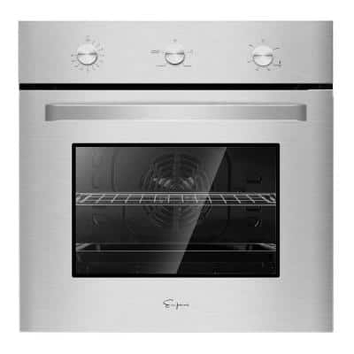 24 in. Single Gas Wall Oven in Stainless Steel with Convection and Knob Controls