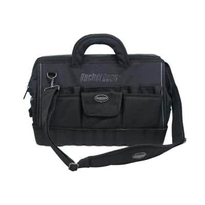 Pro Gatemouth 18 in. All Terrain Bottom Tool Bag with 17 Pockets