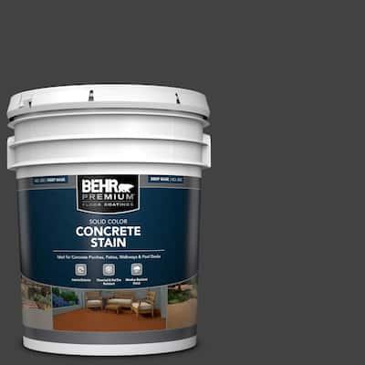 5 gal. #PFC-75 Tar Black Solid Color Flat Interior/Exterior Concrete Stain