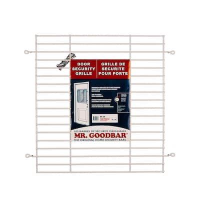 24 in. x 26 in. White Security Door Grille