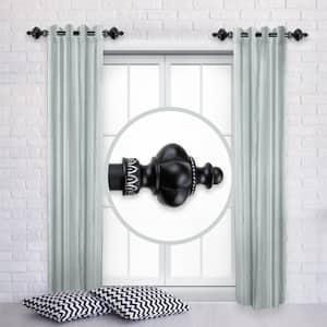 Terra 12 in. - 20 in. L Adjustable 1 in. Dia Single Side Window Curtain Rod in Black (Set of 2)