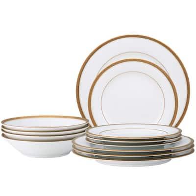 Charlotta Gold 12-Piece Dinnerware (Set for 4)