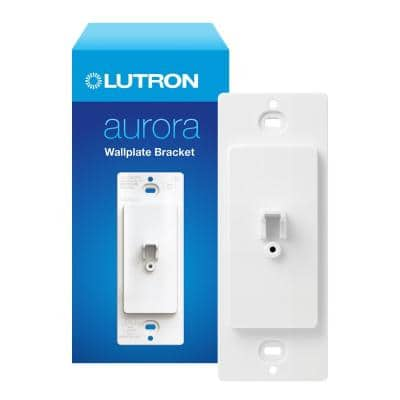 Aurora Wallplate Bracket for Paddle/Decorator Switch, for use with Aurora Smart Bulb Dimmer in White