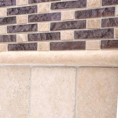 Light Travertine .75 in. x 12 in. Beige Honed Travertine Wall Pencil Wall (1 Linear Foot)