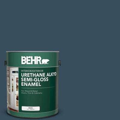1 gal. #PPU13-20 Restless Sea Urethane Alkyd Semi-Gloss Enamel Interior/Exterior Paint
