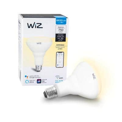 72-Watt Equivalent BR30 Dimmable Wi-Fi Connected Smart LED Light Bulb Warm White (4-Pack)