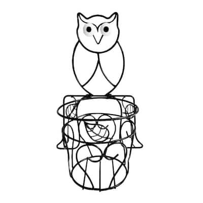 Garden Companions Owl Metal Planter with Coco Liner
