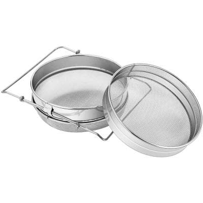 Stainless Steel Honey Strainer with Double Sieve