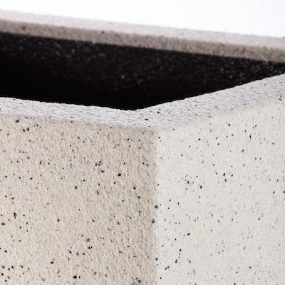 Monterrey Square 23 in. x 23 in. White Granite Composite Square Planter