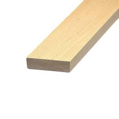 1 in. x 6 in. x 6 ft. Maple Board
