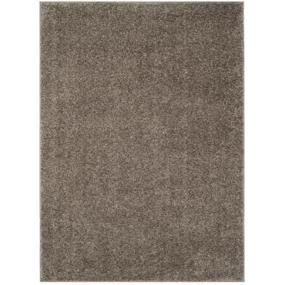 New York Shag Gray 5 ft. x 8 ft. Solid Area Rug