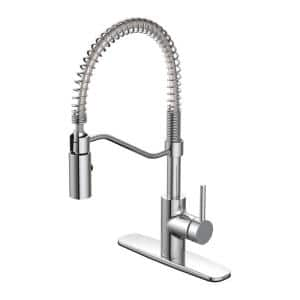Metro Collection Single-Handle Pull Down Sprayer Kitchen Faucet in Chrome