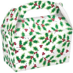 2.75 in. x 4.5 in. x 2.5 in. Holly Gable Box (5-Count, 4-Pack)