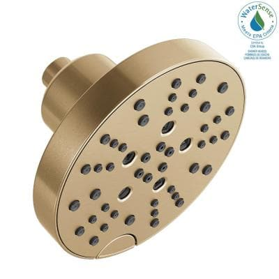 Pivotal 5-Spray H2OKinetic 6 in. Fixed Shower Head in Champagne Bronze